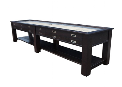 "14 ft ""The Aspen"" 2 in 1 Shuffleboard & Console Table"