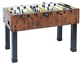 Garlando G-500 Foosball Table in Briar Wood