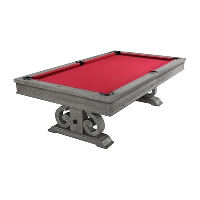 Barnstable With Dining Top 8FT Silver Mist Pool Table