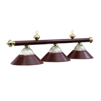 Burgundy Three-Light Billiard Pendant Light