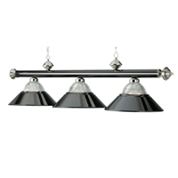 Black Chrome Three-Light Billiard Pendant Light