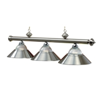 Stainless Three-Light Billiard Pendant Light