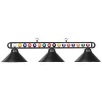 Billiard Balls Three-Light Metal Pendant Light
