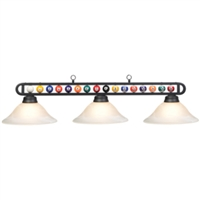 Billiard Balls Three-Light Frosted Glass Pendant Light