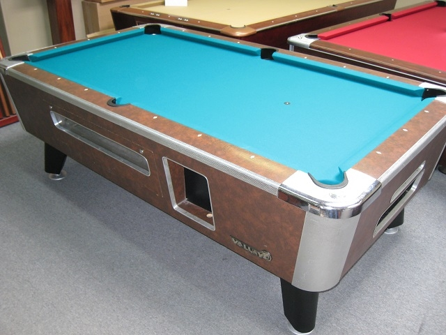 Valley Commercial Style Foot Pool Table - Valley pool table coin mechanism