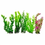 "AquaTop Plastic Freshwater Aquarium Plants, 5-Pack, 13"" tall"