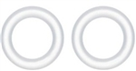 AquaTop CF300 Canister Filter Replacement O-Ring Set (2) for Quick Disconnect Valve