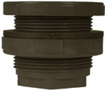 "Inland Seas PVC Bulkhead Tank Adapter, 2"" Female NPT, Schedule 80, Gray"