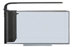 JBJ Rimless Desktop 10 Gallon Flat Panel Peninsula Aquarium w/ LED Light (RL-10-FPP)
