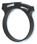 "Black Nylon Hose Clamp for 3/4"" ID Hose"