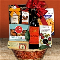 Red Velvet Wine Gift Basket
