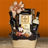 Vintage Wine and Cheese Tote