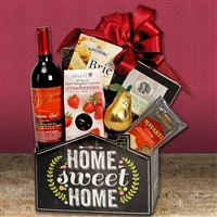 Home Sweet Home Wine Gift Basket