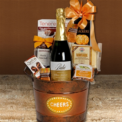 Cheers to You Sparkling Wine Gift Basket