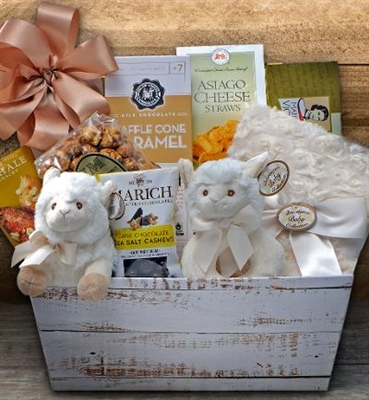Little Lamb Gender Neutral Baby Gift Basket