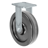 "8"" X 2""  Inch Rigid Caster - Phenolic Wheel - 1,250 Lbs Capacity"