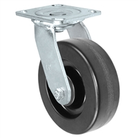 "6"" X 2"" Inch Swivel Caster - Phenolic Wheel - 1,250 Lbs Capacity"