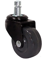 "2"" Chair Caster - Dark Gray Soft Rubber Wheel"