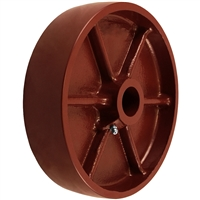 "4"" X 1-1/2"" Red Ductile Steel Wheel"
