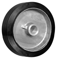 "6"" X 2"" SUPREME RUBBER WHEEL - 700 LBS CAPACITY"