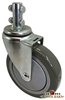 "4"" X 1-1/4"" UNIVERSAL LAUNDRY CART CASTER"