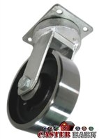 "10"" x 3"" Kingpinless Swivel Caster - Forged Steel Wheel - 10,000 Lbs Capacity"