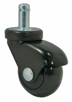 "2"" Black Polyurethane LUX Black Furniture Caster"
