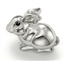 Sterling Silver Plated Rabbit Charm