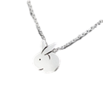 .925 Sterling Silver Bunny Necklace