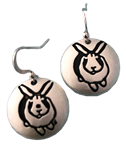 Stamped Bunny Earrings