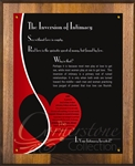 The Inversion of Intimacy Plaque