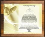 Poetry of Marriage (Yellow Bells) Plaque