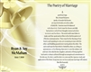 Poetry of Marriage - (Yellow Bells) Canvas Personalized