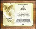 Poetry of Marriage - (Yellow Bells) Plaque Personalized