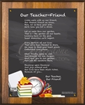 Our Teacher - Friend Chalkboard Black Plaque