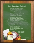 Our Teacher - Friend Chalkboard Green Plaque
