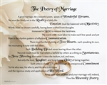 The Poetry of Marriage (Rings) Canvas