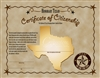Honorary Texan Certificate