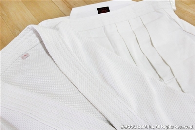Top Quality WHITE #8,000 Hakama & SUPER KEIKOGI Set