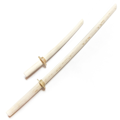 Top Quality Bokken Set White (Long and Short)