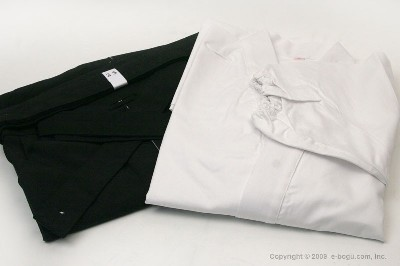 Top Quality NAGINATA Gi (WHITE) & Tetron Hakama (BLACK) Set