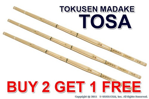 Top Quality TOKUSEN MADAKE Select Shinai - TOSA Size 39 (Bamboo Only)
