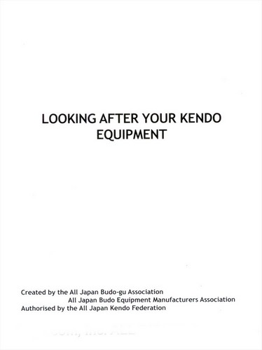 Looking After Your Kendo Equipment  (English)