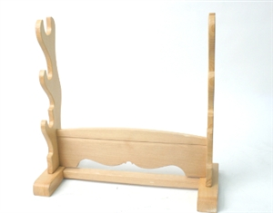 3 Tier Natural Wooden Sword Stand