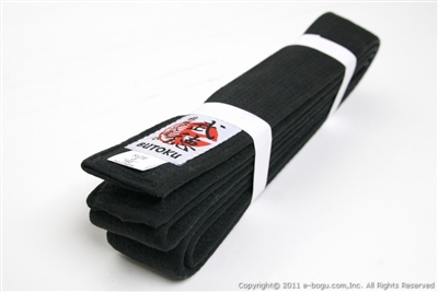 "***OUTLET***Butoku Master Quality Black Belt 2"" for Judo/Karate  - size 3"