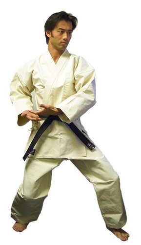 Master Quality Super Heavy 18 oz Non-Bleached Karate Jacket and Pants Uniform Set