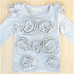 Everbloom Gray Rose Tee