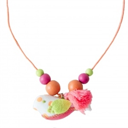 Everbloom Birdie Necklace in Orange Dot