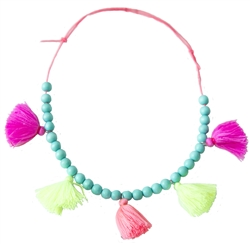 Everbloom Tassel Necklace in Multi Color