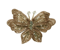 Tutu Du Monde Enchanted Butterfly Hairclip in Gold